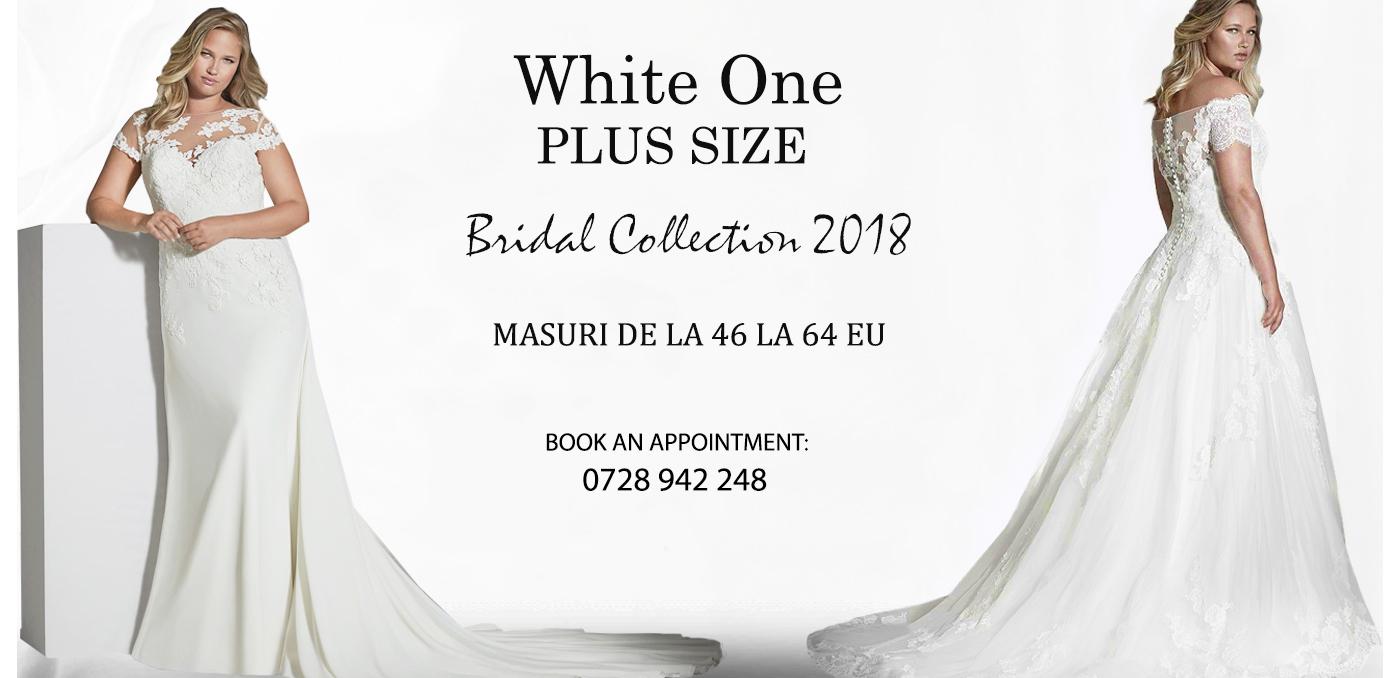 Rochii de mireasa White one Plus Size