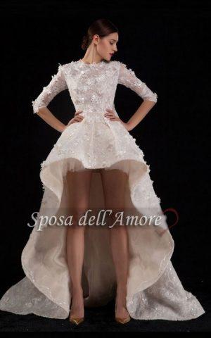 rochie de mireasa asimetrica 1582