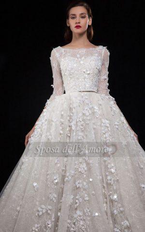 rochie de mireasa exclusivista 1535 rochie flori 3 d rochie printesa sposa