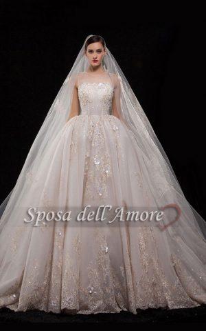 rochie de mireasa stil printesa sposa 1569
