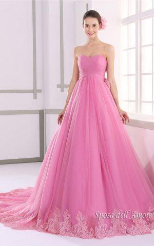 rochie de mireasa roz JUL015008-a copy