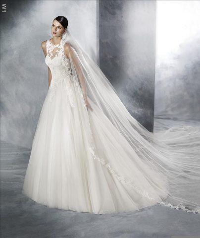 rochie de mireasa A line pronovias san patrick jarissa