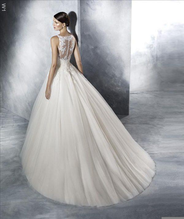 rochie de mireasa A line pronovias san patrick jarissa 5