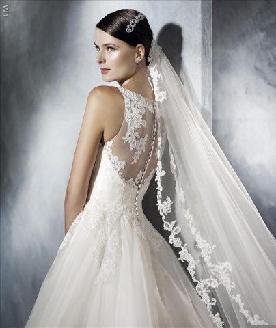 rochie de mireasa A line pronovias san patrick jarissa 5 5