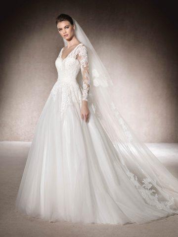 rochie de mireasa a line printesa pronovias san patrick muth_b-1