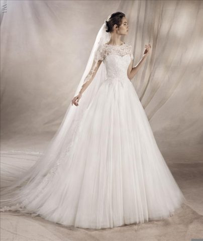 rochie de mireasa printesa pronovoas san patrick a line tul dantela yaser