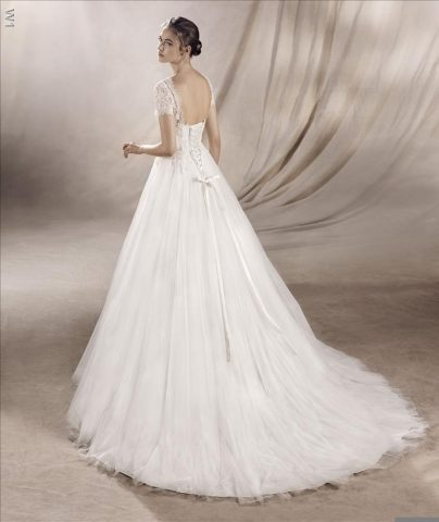 rochie de mireasa printesa pronovoas san patrick a line tul dantela yaser 2 5