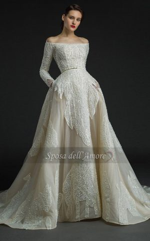 rochie de mireasa sampanie 15183 copy