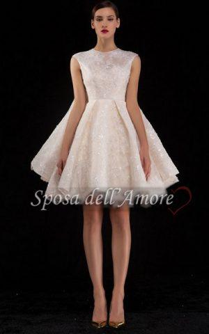 rochie de mireasa scurta 1583 copy