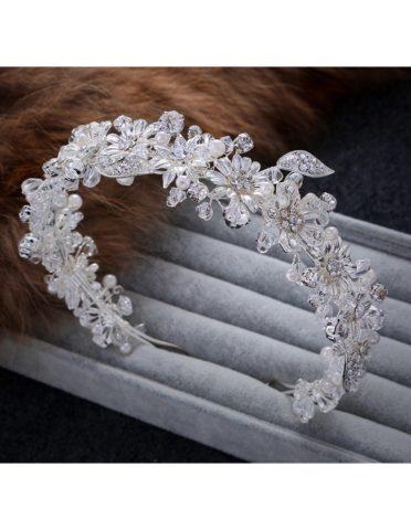 coronita mireasa perle cristale sposa 01 6