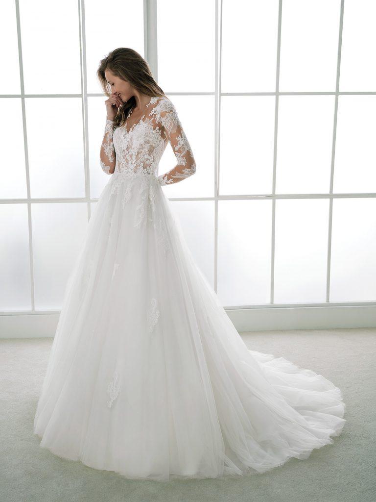 rochie-de-mireasaa-line-dantela-tull-white-one-2018-sposa-dell-amore-felina-1-768x1024
