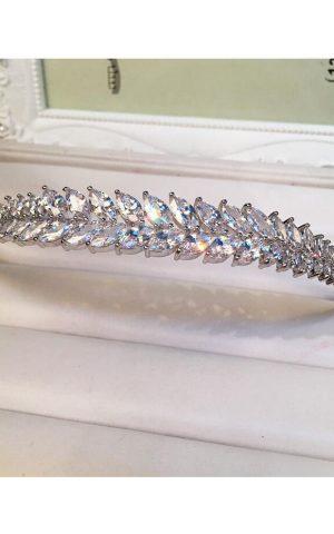coronita mireasa perle cristale sposa 02