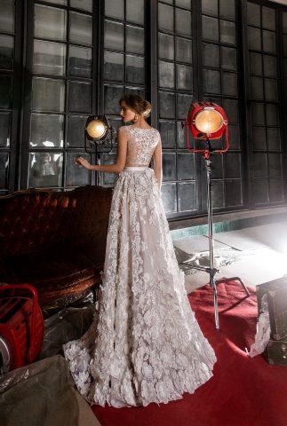 rochie de mireasa a lina flori 3 d dantela sposa dell amore 2018 2