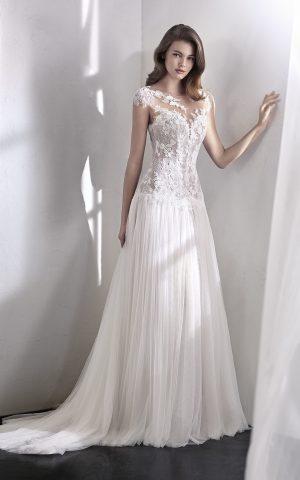 rochie de mireasa dreapta san patrick 2018 lena_b