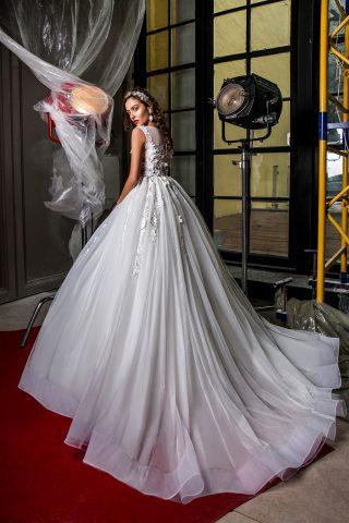rochie de mireasa marsha printesa dantela 3d 2018 3
