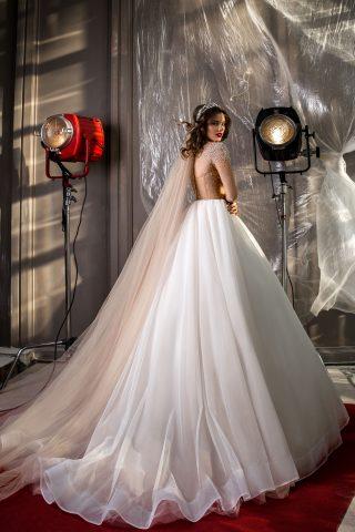 rochie de mireasa printesa aplicatii cristale perle sposa dell amore 2018 jasmine 2