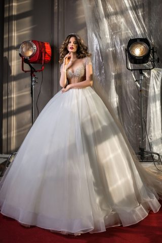 rochie de mireasa printesa aplicatii cristale perle sposa dell amore 2018 jasmine