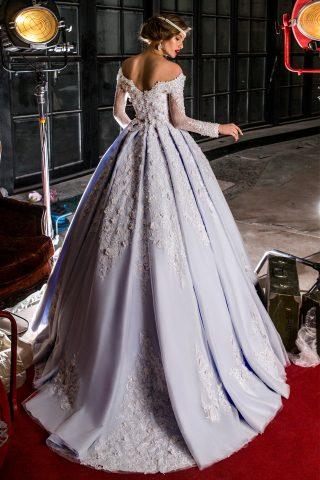 rochie de mireasa printesa broderie 3d flori 3d sposa dell amore 2018 petra 2