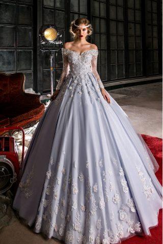 rochie de mireasa printesa broderie 3d flori 3d sposa dell amore 2018 petra