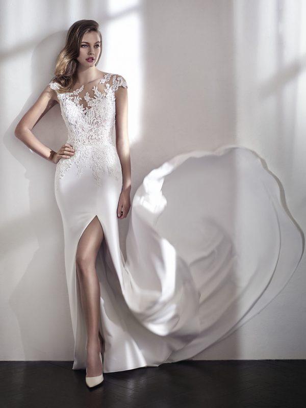 rochie de mireasa san patrick lacey_b sposa dell amore crep dantela 2018 2