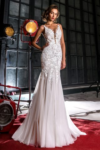 rochie de mireasa sirena dantela 2018 sposa dell amore