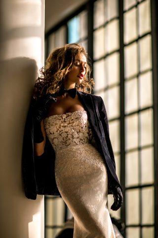 rochie de mireasa sirena trena detasabila dantela bordura sposa dell amore 201 preslie 3