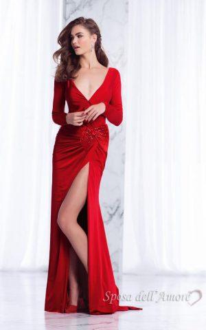 sposa-dell-amore-rochie-de-seara-eleganta-catifea-rosie-12122018-evening-look-evening-dress-velvet-2018-red-sposa