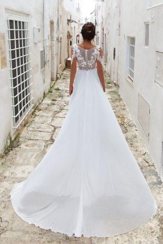 Rochie de mireasa sifon empire dolce sposa dell amore 2018 3