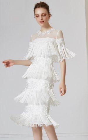 rochie alba franjuri dantela 31980-rochie cocktail