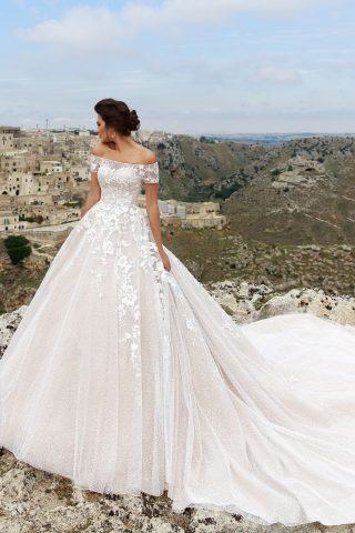 rochie de mireasa ADELISA 2018 sposa dell amore printesa DANTELA
