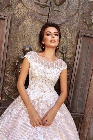rochie de mireasa PRINTESA 2018 dantela DESIDERIA sposa 2