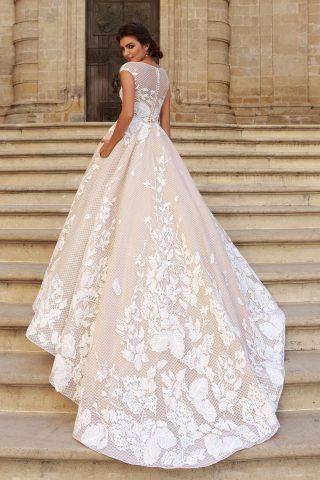 rochie de mireasa PRINTESA 2018 dantela DESIDERIA sposa 3