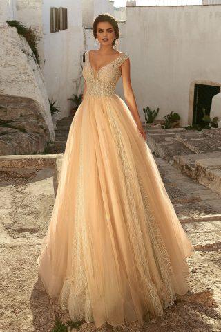 rochie de mireasa PRINTESA 2018 dantela HANRIETTE sposa