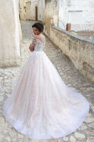 rochie de mireasa PRINTESA 2018 dantela KAROLY sposa C