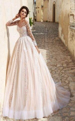 rochie de mireasa PRINTESA 2018 dantela KAROLYsposa 2