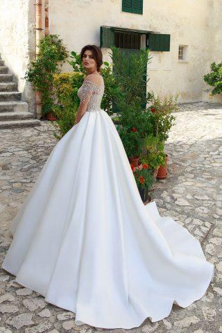rochie de mireasa abelie 2018 sposa dell amore printesa satin cristale 2
