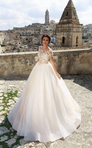 rochie de mireasa printesa bellance 2018 sposa dantela