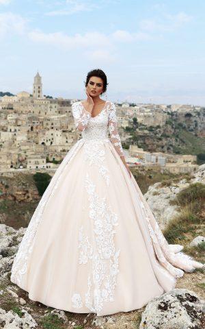 rochie de mireasa printesa dantela maddalena sposa 2018