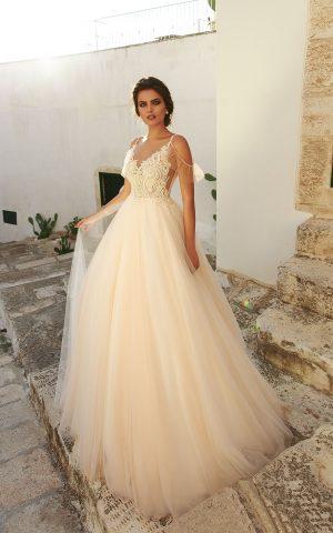rochie de mireasa printesa tull alba 2018 sposa dell amore