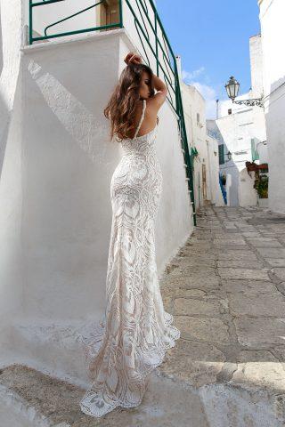 rochie de mireasa sirena 2018 dantela KEMINA sposa 2