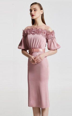 rochie de seara mov roz rochie cocktail cnf31812 retro mama miresei
