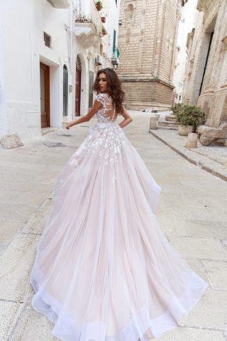 rochie de mireasa A line Flaviani dantela aplicatii sposa dell amore 2