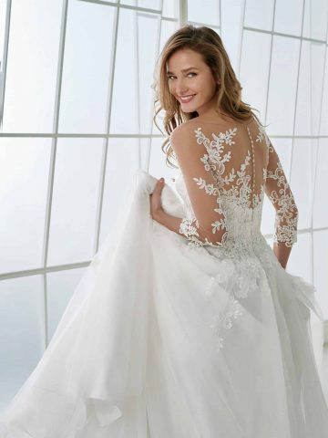 rochie de mireasa A line dantela feria_b sposa dell amore bucuresti san patrick pronovias 3
