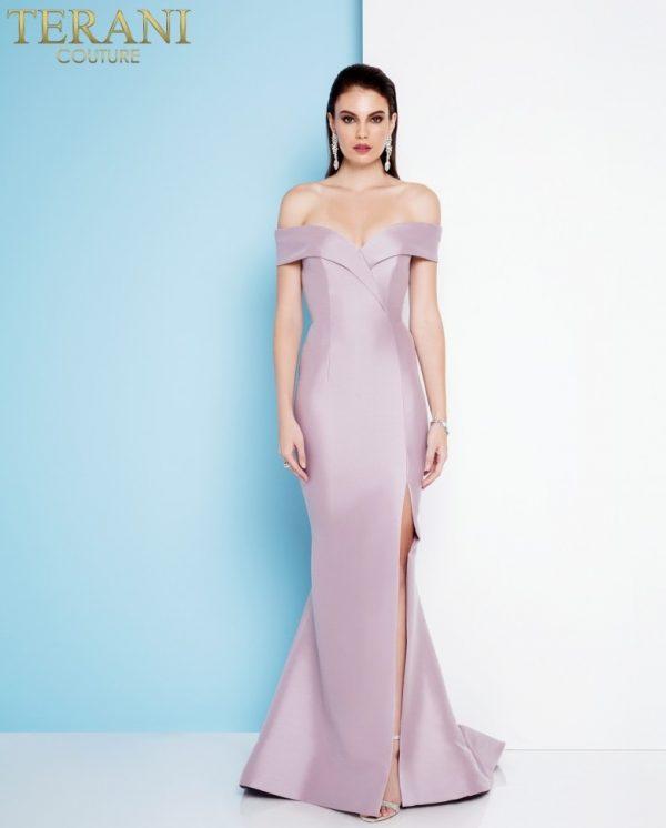 1811e6107_front rochie de seara tafta lila roz deschis