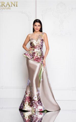 1811e6124_champagne_multi_front rochie de seara eleganta rochie mama miresei rochie nasa rochie de ocazie