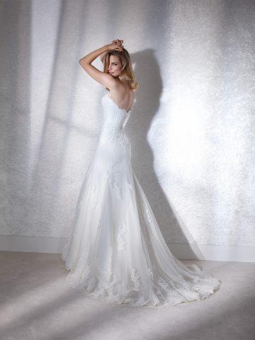 faciel_b rochie de mireasa sirena dantela white one 2