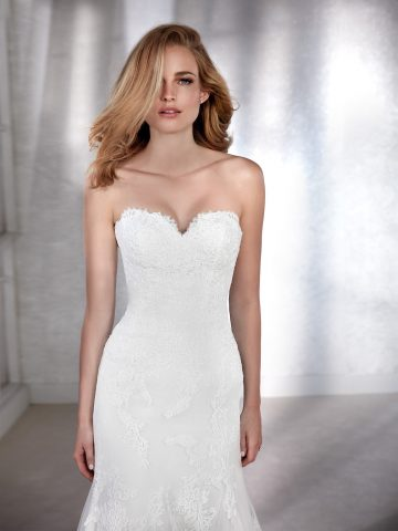 faciel_b rochie de mireasa sirena dantela white one 3