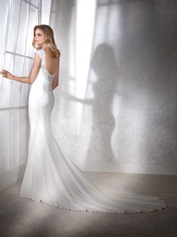 fiana_b rochie de mireasa crepe simpla white one san patrick sposa dell amore 2
