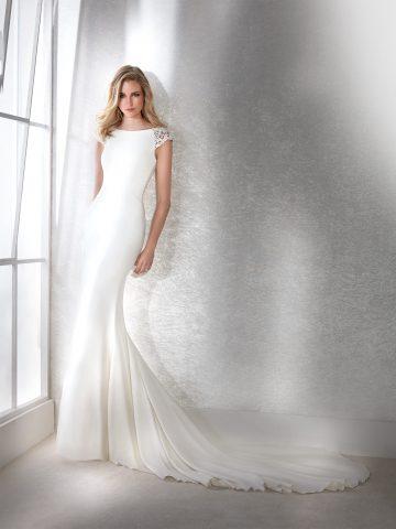 fiana_b rochie de mireasa crepe simpla white one san patrick sposa dell amore