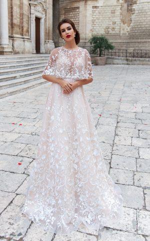 rochie de mireasa A line Adona 2018 sposa dell amore